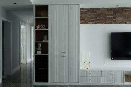 130平米三居室装修,轻奢北欧风家居设计