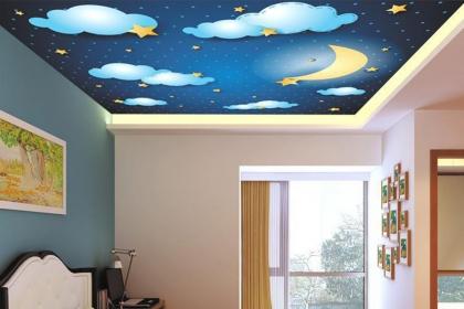 天花板贴墙纸行不行?家装天花板贴墙纸需注意的问题