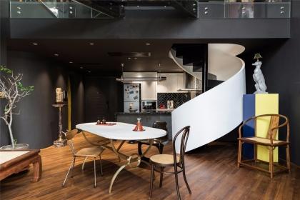 Loft公寓装修样板间,156平米的大空间