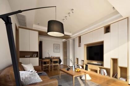 110平米小三居户型装修,现代日式简约家居