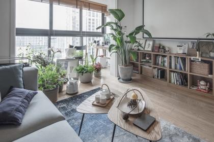 简约风格设计说明,简约舒适三居有种贴近于自然的美