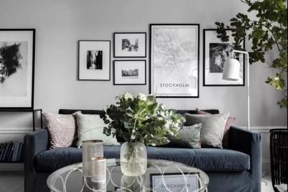 80平米公寓装修,灰色经典的现代居室设计