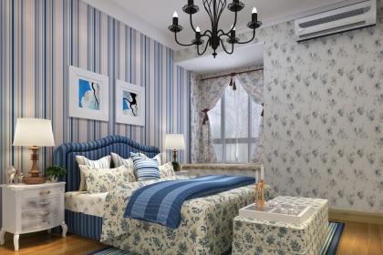 地中海卧室窗帘搭配设计效果图,缔造浪漫海边生活