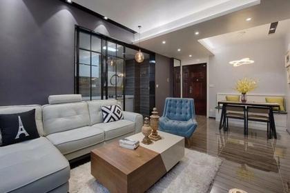 93平米家居装修设计,打造现代轻奢的居室