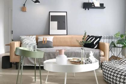 105平米三室两厅户型u乐娱乐平台,清新北欧风家居设计