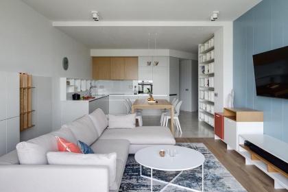 98平米两居室装修,打造时尚现代风居室