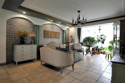135平米四居室装修布置,美式混搭风格家居设计