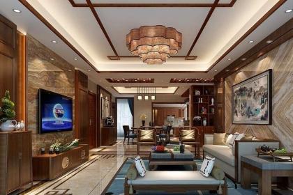 新中式风格客厅装修设计要点详解,显露别样的古典端庄美