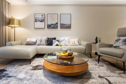 东莞127平简约风格装修案例,带你走进最纯净的居室空间