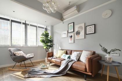 广州76平北欧风格装修案例,浅色空间是你想要的格调