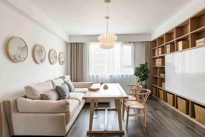 133平三室两厅装修案例,带您走进日式家居环境