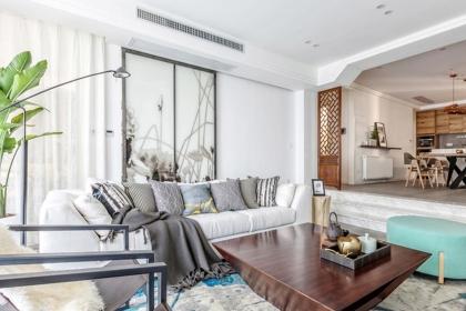150平米四居室装修,清爽的中式风家居设计