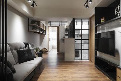 小户型装修设计图,简约小两居装修案例