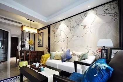 100平米三居室设计,优雅中式风的居住体验