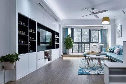 82平米两居室户型装修,文艺简约风家居设计