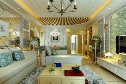 田园风格客厅装修效果图,打造自然恬淡的田园家居