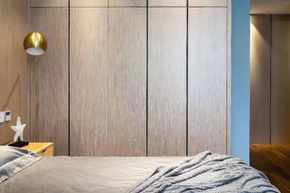 112平米三居室户型装修,轻奢简约家居设计