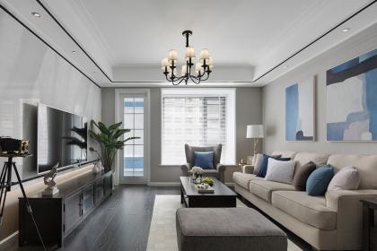 三室两厅美式混搭风格案例,带你走进优雅安静的居室空间