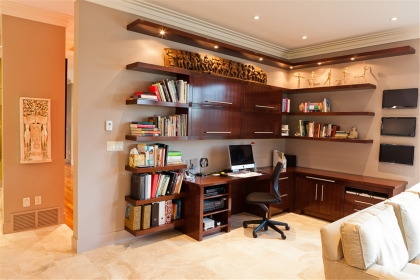 书房书架装修效果图,打造舒适惬意的读书氛围