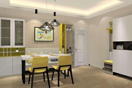 一进门卡座餐厅效果图,小户型节省空间的最佳设计