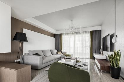 140平米三室两厅u乐娱乐平台案例,带你走进现代简约之家