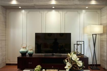 五种客厅电视背景墙装修材料分析,教你如何选择电视墙材料