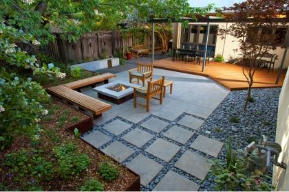 现代庭院设计实景图,用简约风营造出的静享空间