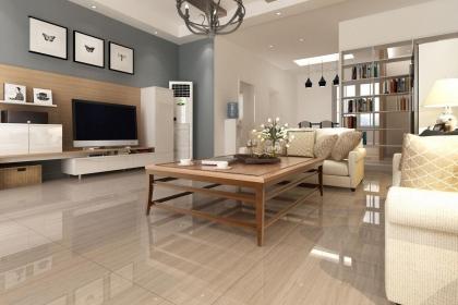 家装客厅地板砖效果图,客厅地板砖这样铺不失高雅格调