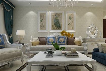 简欧U乐国际沙发背景墙,巧妙的搭配尽显优雅气质