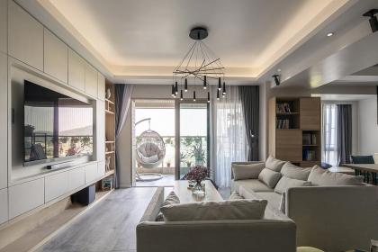 簡約大戶型裝修案例,簡單舒適的四口之家