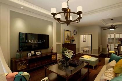 100平米三房兩廳裝修設計案例,時尚簡美風讓家更有格調