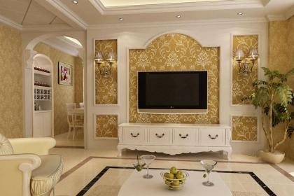 2018最新简欧式电视背景墙装修设计,你家的电视墙也可以这么美