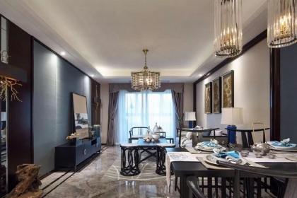 126平米三房新中式裝修案例,驚艷了時光的輕奢質感空間