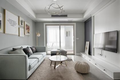 商品房样板房欣赏,90平米北欧风设计