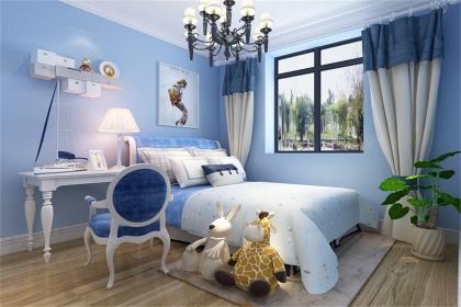 儿童房浅蓝色装饰案例,同样的色彩带来不一样的装饰体验
