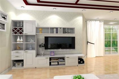 2018电视墙收纳柜效果图,可以让大家看到电视墙收纳柜装修效果.