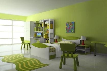 綠色臥室裝修效果圖,用綠色裝點純凈空間