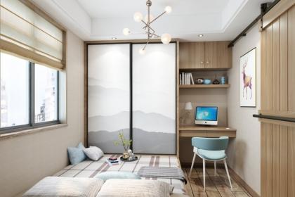 简约时尚榻榻米卧室,小房间这样打造真的很实用