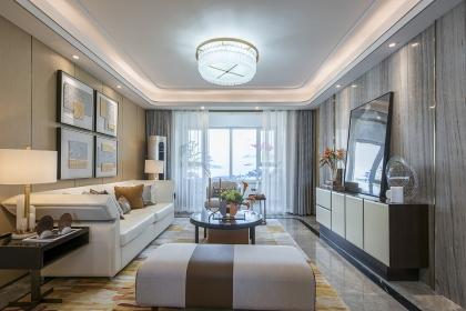 济南134平现代风格样板房设计,高雅的装饰让家充满轻奢之感