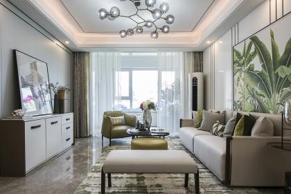 最新现代风格装修案例,113平米三室两厅样板房设计
