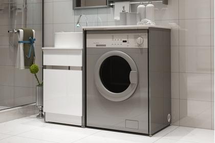 家里的洗衣机放在哪里更节省空间?家用洗衣机摆放指南