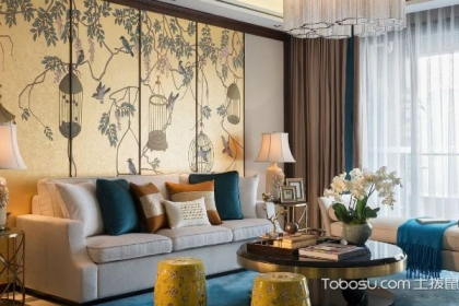 136平新中式三室二廳裝修樣板房,引領新中式設計風潮