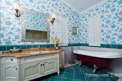 欧式田园风格浴室装修效果图,带你享受最舒适的沐浴体验