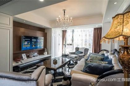 南京97平米两室两厅效果图,给你不一样的欧式风情