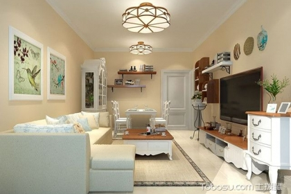 76平两室两厅装修图,简约温馨的田园风格
