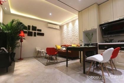 55平米一室一厅公寓改两室两厅效果图,户型改造装修