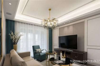 110平米现代美式风格装修效果图,打造轻奢小资家居空间图片