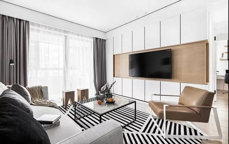 87㎡设计成三间房,客厅时尚大方,卫生间最漂亮!