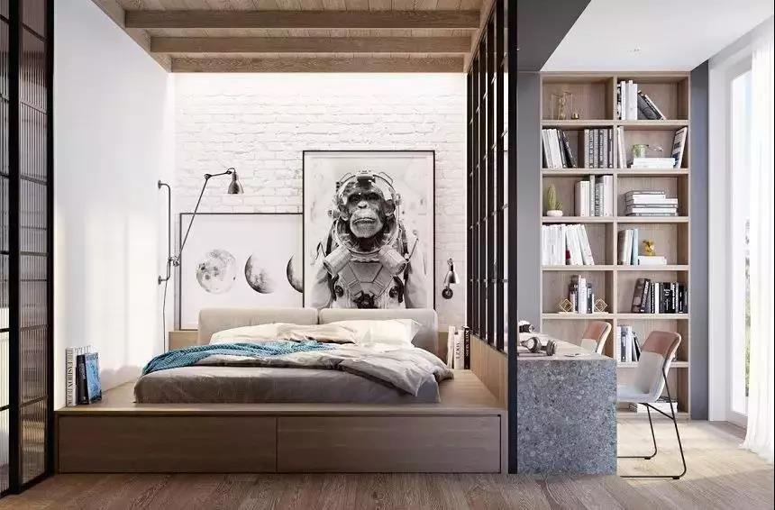 榻榻米早落伍了,现在流行一体化的地台卧室设计!