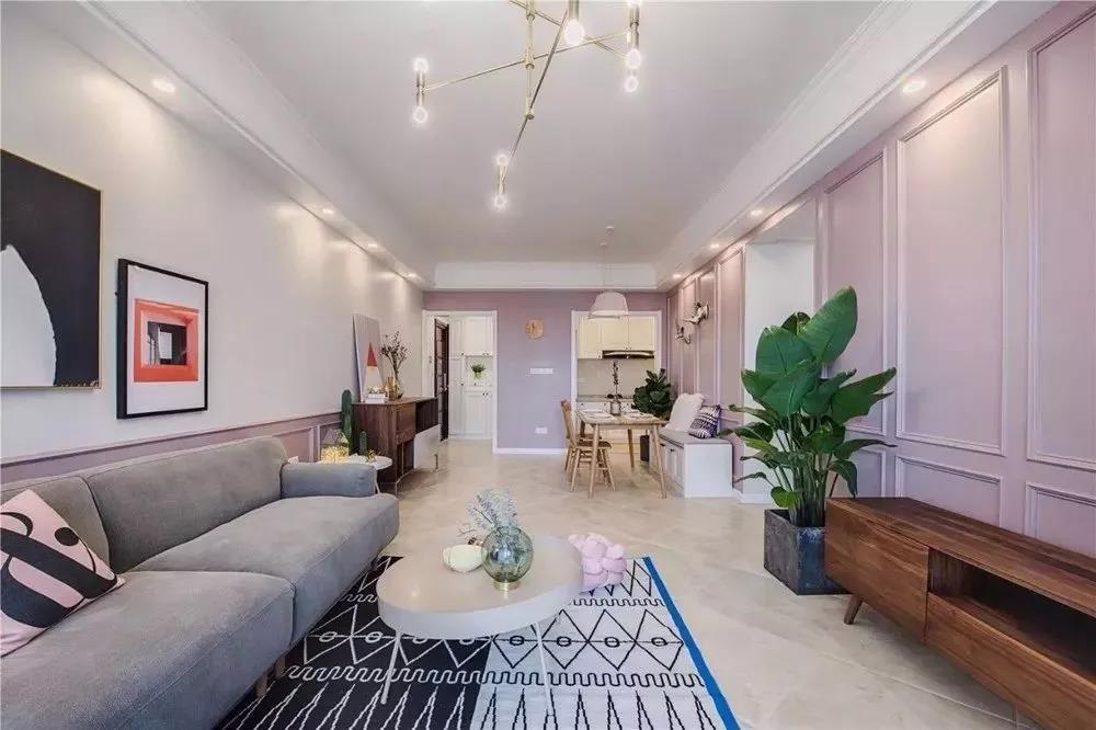 83㎡三室一厅,乳胶漆+石膏线,温馨又低奢!
